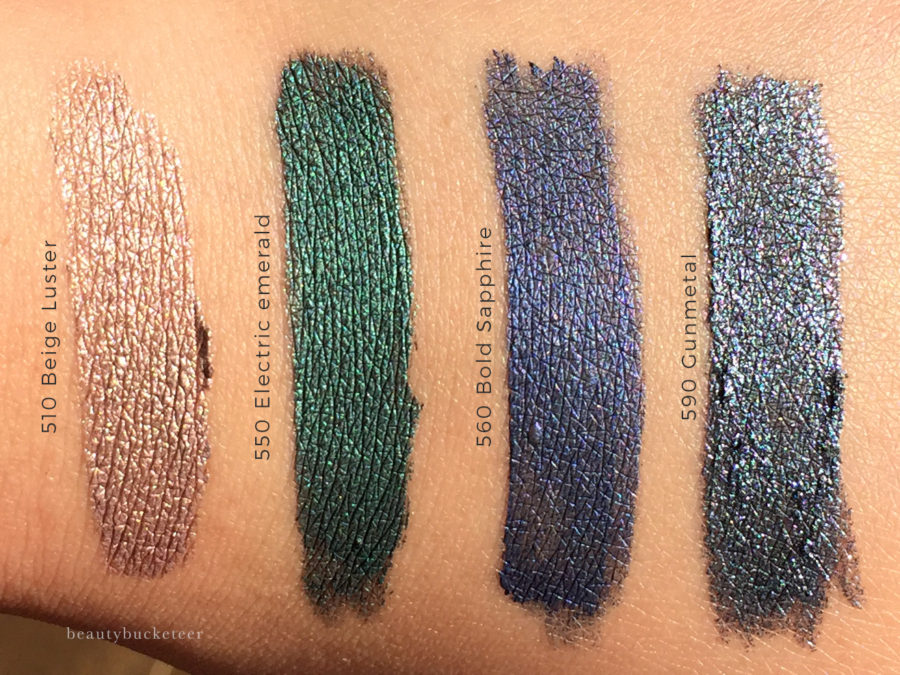 Maybelline Color Tattoo Eye Chrome Swatches