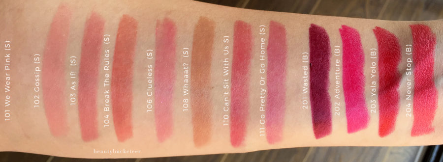 L'Oreal Infallible Sexy Balms Swatches